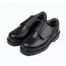 genuine leather black steel toe safety men shoes