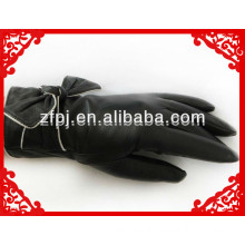 women high grade romantic goatskin driver leather glove with bow