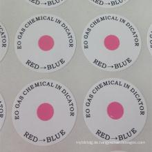 benutzerdefinierte gedruckte anzeige selbstklebende aufkleber label garantie