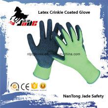 13G guante de trabajo de nylon con láminas de látex