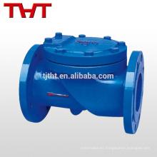 válvula de retención del oscilación del acero de carbono a216wcb del reborde de la aleta
