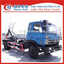 2015 nueva condición dongFeng eléctrico basura camión contenedor rodillo