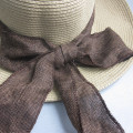 High Quality Ladies Paper Straw Hat With Bow tie