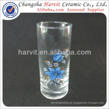 Productos baratos de la importación de China / Glassware de la taza de cristal fijados / pantalla de seda Decoran el vaso del vaso de BengBu del patrón