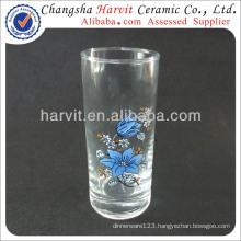 Import Cheap Goods From China / Glass Cup Glassware Set / Silk Screen Decor Pattern BengBu Tumbler Glass
