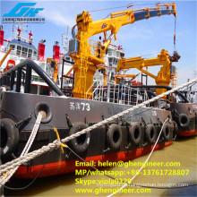 Grúa telescópica hidráulica de la cubierta del barco 4 toneladas @ 30m para el manejo de Matieral