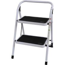 Leiter mit breiten Metallstufen rutschfest 2 Stufen Stahl