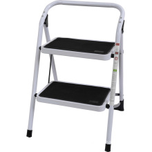 Ladder with Wide Metal Steps Non-Slip 2 Steps Steel
