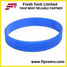 Профессиональный спортивный силиконовый браслет с тиснением логотипа