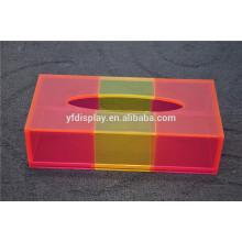 caixa de tecido facial plástico pequeno de impressão personalizada