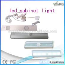 Novo design 3000k lâmpadas de gabinete luz de bateria conduzida por bateria luz CE ROHS aprovado luz de sensor de armários