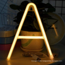 Wholesale  neon signs  custom led sign letter unbreakable neon sign letter for all alphabet and all color