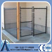 Los perros usan la puerta soldada de acero perrera jaulas / perrera de perro negro