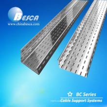 Стальной материал и вентилируемые или перфорированные через лестничного типа кабельных лотков