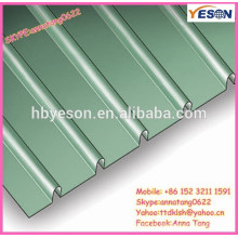 Panel de acero ondulado de la cortina / hoja de la cubierta del metal / sistema de la hoja del tejado