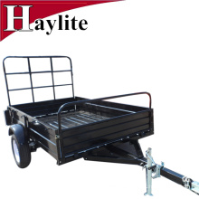 black color powder coating farm trailer box trailer for sale