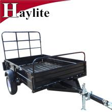 black color powder coating farm trailer box trailer for sale