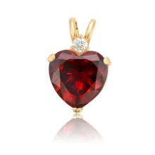 34224 Xuping diseño de moda de oro joyas de cobre en forma de corazón colgante de piedras preciosas de diseño para las mujeres