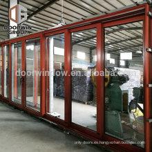 China fabricantes patio de aluminio puerta corredera doble puerta de cristal puerta corredera