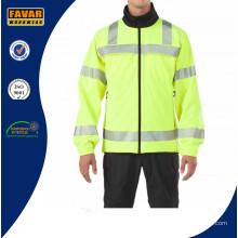 Venta por mayor tráfico Hivis impermeable chaqueta de Softshell reflexivo de la seguridad