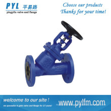 PINGYILU FACTORY produced high quality Y type bellow globe valve