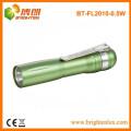 Fabrikverkauf preiswertes gelbes helles förderndes Aluminiummetall 1aa batteriebetriebenes 0.5w führte kleine preiswerte Taschenlampen-Stifte mit Klipp