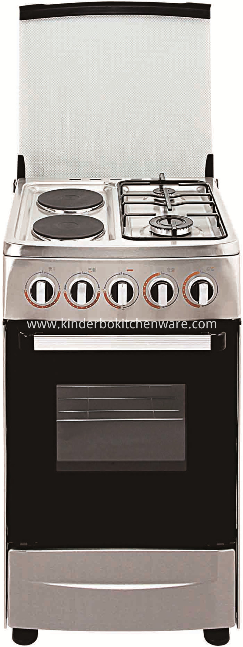 Gas Stove with 2 Plates and 2 Burners Gas Stove with Oven