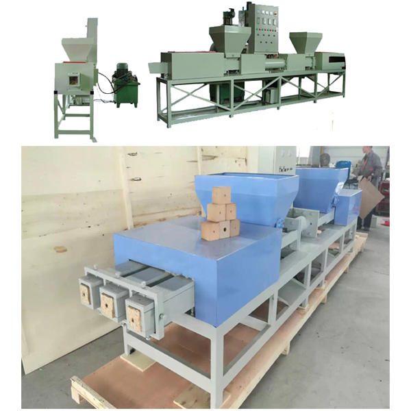 Double or three head wood pallet making machine