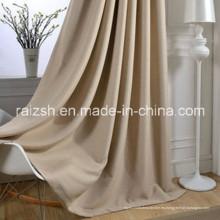 Moderna sala de estar minimalista Blackout gruesas cortinas de lino de color sólido