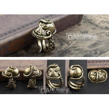 Messing-Made Male Ring Octopus Modellierung Retro Farbe halb offen