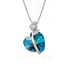43801 meilleurs cristaux de fabrique de bijoux de la marque de Swarovski, collier pendentif coeur en cristal