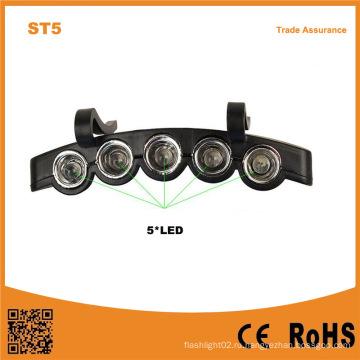 5LED Пластиковые светодиодные крышки Hat свет 2 * Cr2032 батарейках 5 светодиодных рыбалка Hat Light