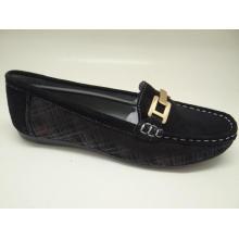 Lates женщин досуг кожа обувь обувь Loafer (SF0017)