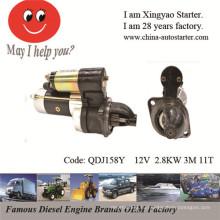 Редукционный стартер Судовой двигатель стартера Suzuki (QDJ158Y)