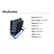 30W Buiten Waterdicht RGBW LED Flood Light