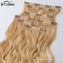Hair Extension Human Brazilian Clip In Remy Double Drawn