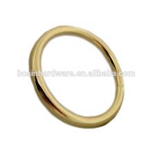 Fornecimento de alta qualidade Metal soldado latão chapeado anel O
