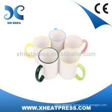 AA Grade Rim & Handle Colorful Mug Handle Coated Mug for sublimation