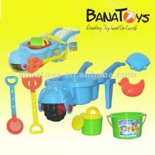 Brinquedos plásticos da praia da areia do verão ao ar livre ajustados para miúdos