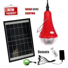 Luz de casa solar portátil com 3 lâmpadas de led, interiores luzes solares para iluminação doméstica