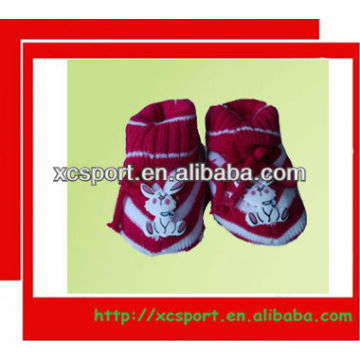 soft knitted acrylic baby shoe socks