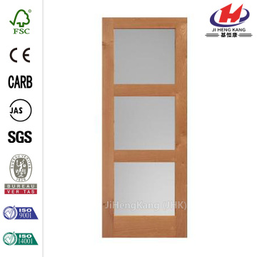 Glass Bathroom Interior Wood Sliding Door