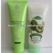 138ml tubo de LDPE para embalagens de cosméticos com tampa flip CAP