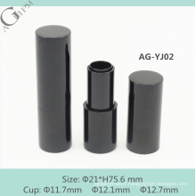AG-YJ02 AGPM empty aluminium round magnetic lipstick container