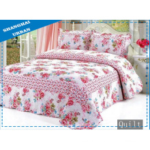 100%Cotton Flower Print Bedding Bed Cover (Quilt)