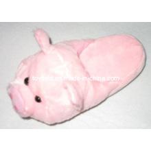 Animais de pelúcia sapatas chinelo porco recheado (tf9725)