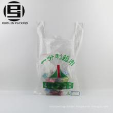 Eco custom print supermarket use t-shirt bags