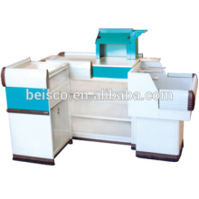 CE and ISO approved checkout counte/cash counter/shop cash counter