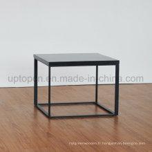 Table latérale en marbre artificiel de style simple (SP-GT456)