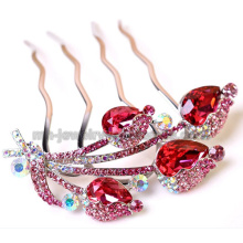 Fashion New 2014 Charms Color Zinc Alloy Women Hair Comb